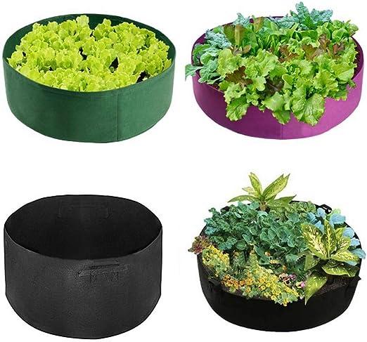 Macetero de fieltro para plantar al aire libre, redondo, para interiores, jardines, jardines, macetas y macetas: Amazon.es: Jardín