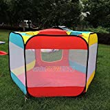 Sangdo Foldable Kids Baby Ball House Hideaway Pop Up Play Tent Ball Pit Pool Playhut