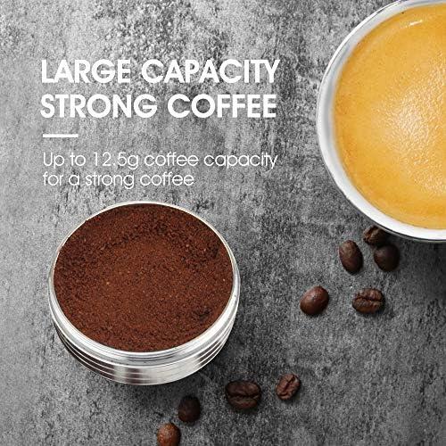 iCafilas Kit de dosettes de café réutilisables compatibles avec capsules Nespresso Vertuoline 230 ml I pour machines Nespresso Vertuo Plus Big Cup Capsule + Tamper