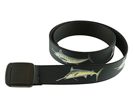 79fa3e0ecf2 Hiker Belt Saltwater Fish Patterns Made in USA by Thomas Bates (Billfish  Slam) at Amazon Men s Clothing store