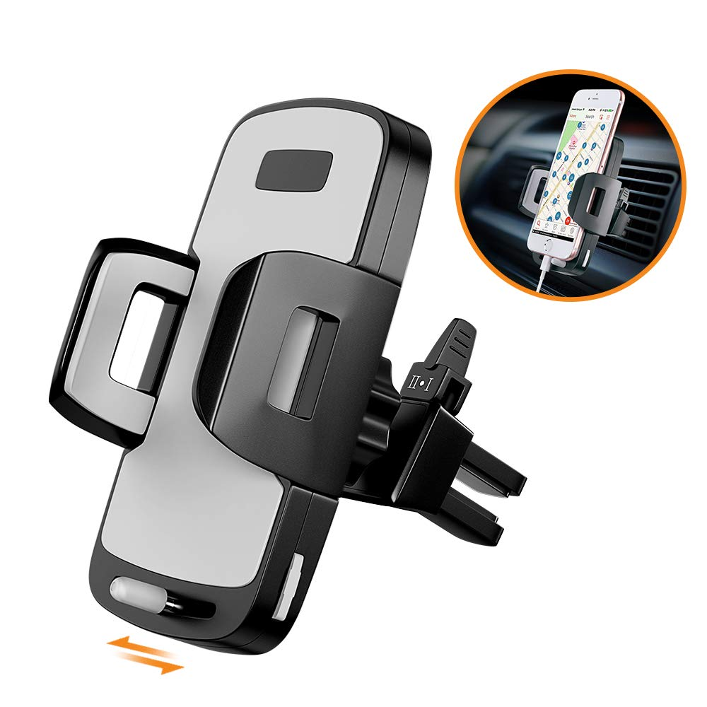 Adjustable Cell Phone Car Cradle for iPhone X 8//7 Plus 8 7 6//6s Plus 6//6s Phone Holder for Car Galaxy S9//S8 Plus S9 S8 Note 8 Stoon Universal Car Air Vent Mount with Slidable Base and etc. Black