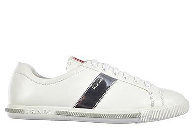 Prada Damenschuhe Turnschuhe Damen Leder Schuhe Sneakers