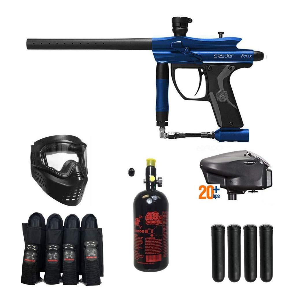 MAddog Spyder Fenix Expert Paintball Gun Package - Blue by MAddog