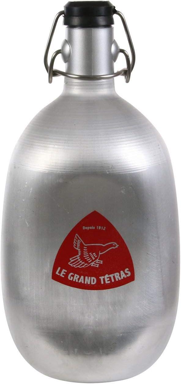 Le Grand Tétras - Botella Original cóncava - sin BPA Toma en la Mano - Diseño auténtico y Vintage - Botella de 1 litro
