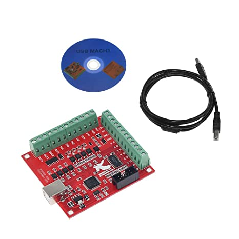 4 Axis MACH3 CNC USB 100Khz Breakout Board Interface Driver Motion Controller UK