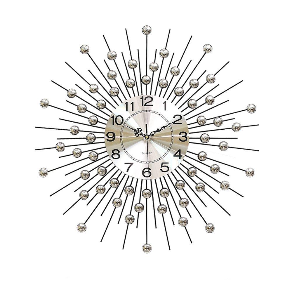 60 * 60 cmリビングルームの壁時計ヨーロッパの家庭のサイレントベッドルームの金属時計 B07D1PWCJN