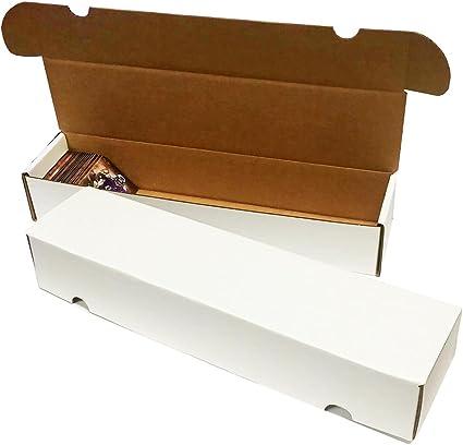 50 BCW Corrugated Cardboard 1000 Count Baseball Gaming Trading Card Storage Box