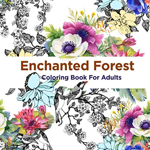 Book cover from Enchanted Forest Coloring Book For Adults: Over 50 Majical Forest Designs For Adult Coloring (Antistress Coloring) by SMILE Publishers