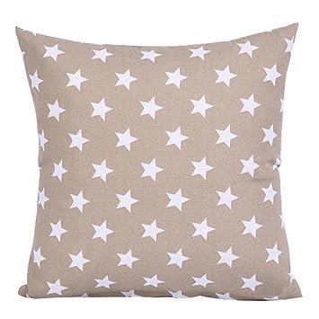 display08 Funda de cojín cuadrada con diseño de estrella ...