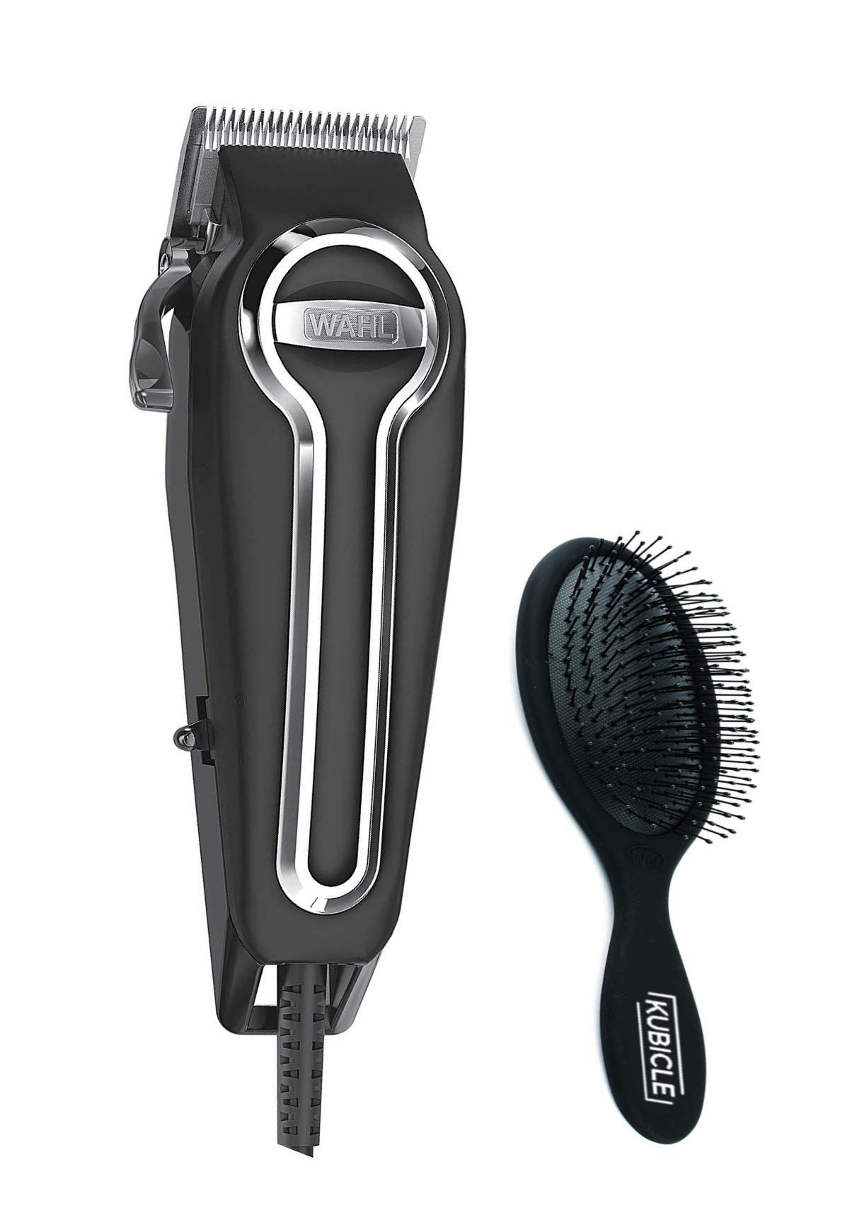 Wahl Hair Clippers with Premium Smooth Cutting Stainless Steel Blades and Secure Fit Attachment Combs Included Great For Haircutting and Beard Trimming and Kubicle Hair Brush Bundle