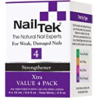 Nail Tek Xtra 4, Nail Strengthener for Weak and Damaged Nails, Prevent Nails From Peeling, Cracked, and Brittle Nails, 0…