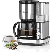 Barista Filter-Kaffee-Maschine aus Edelstahl mit Mahlwerk