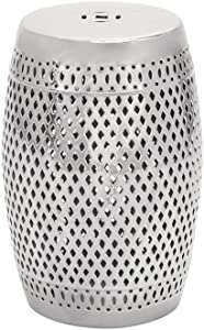 Deco 79 Ceramic Stool, 19-Inch by 13-Inch