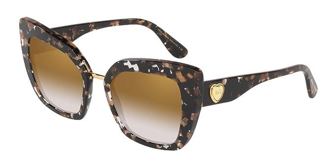 Dolce & Gabbana 0DG4359 Gafas de sol, Cube Black/Gold, 52 ...