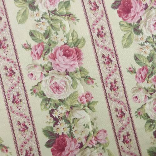 (Designer Cotton Pink/Green Floral Print Decorating Fabric, Fabric by The Yard)