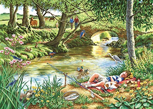 The House of Puzzles - Gone Fishing - Big 500 Piece Jigsaw Puzzle