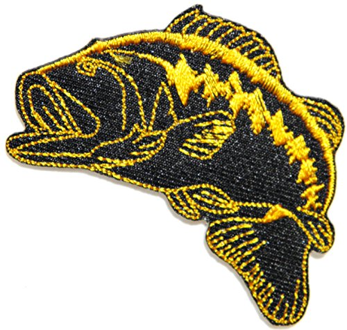 Bass Fishing Lure Hook Logo Jacket T shirt Patch Sew Iron on Embroidered Badge Sign - The Gardens Collection Outlet Jersey