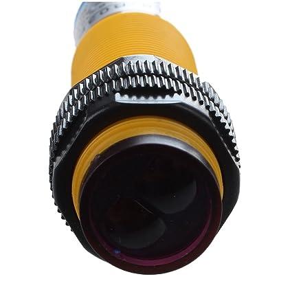 mimi dc 3 wire 6 36v pnp ir photoelectric sensor switch 30cm e18 rh amazon com