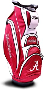 Team Golf NCAA Victory Golf Cart Bag, 10-way Top with Integrated Dual Handle & External Putter Well, Cooler Pocket, Padded Strap, Umbrella Holder & Removable Rain Hood