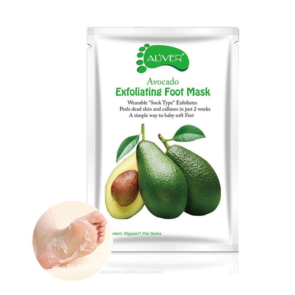 5 pares de máscara de pelado de pies, exfoliante, blanqueante, hidratante, antitranspirante, antisudor, nutritivo, piel dura pelar calcetines para mujeres y hombres Leegoal