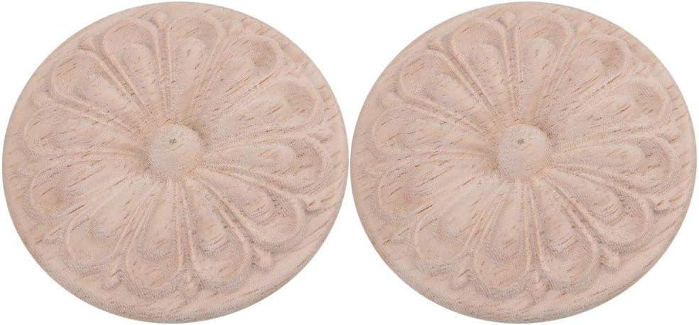 RDEXP 2 piezas de calcoman/ías para muebles sin pintar apliques para decoraci/ón de muebles de puerta de pared