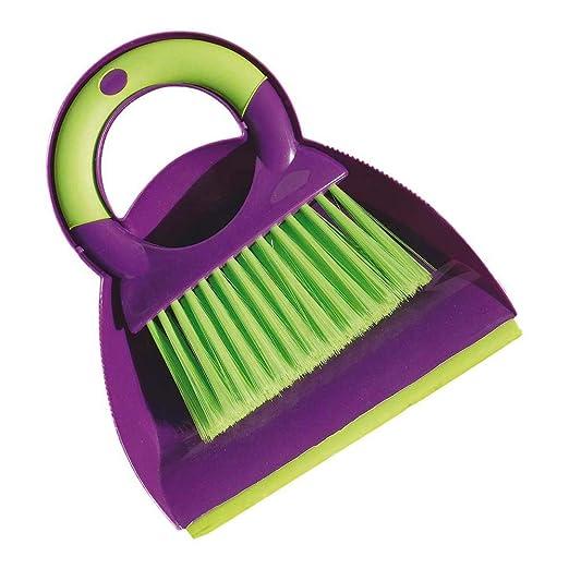 York - Cepillo de Mesa con recogedor (Madera, plástico, Goma ...