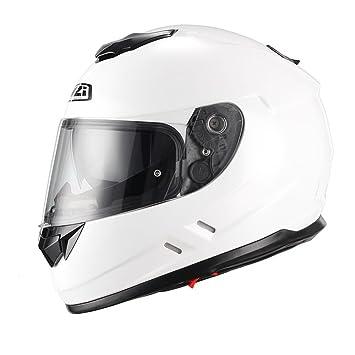 NZI Casco de moto integral Symbio blanco S