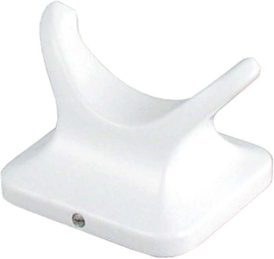 White LDR Industries 162 8662 Prestige Double Robe Hook