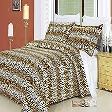 8pcs California King size Bed in a bag Printed duvet set Including Egyptian Cotton Cheetah 3pcs Duvet cover set+ 4pcs Cal king sheet set+ 1pc King/Cal king Down Alternative comforter