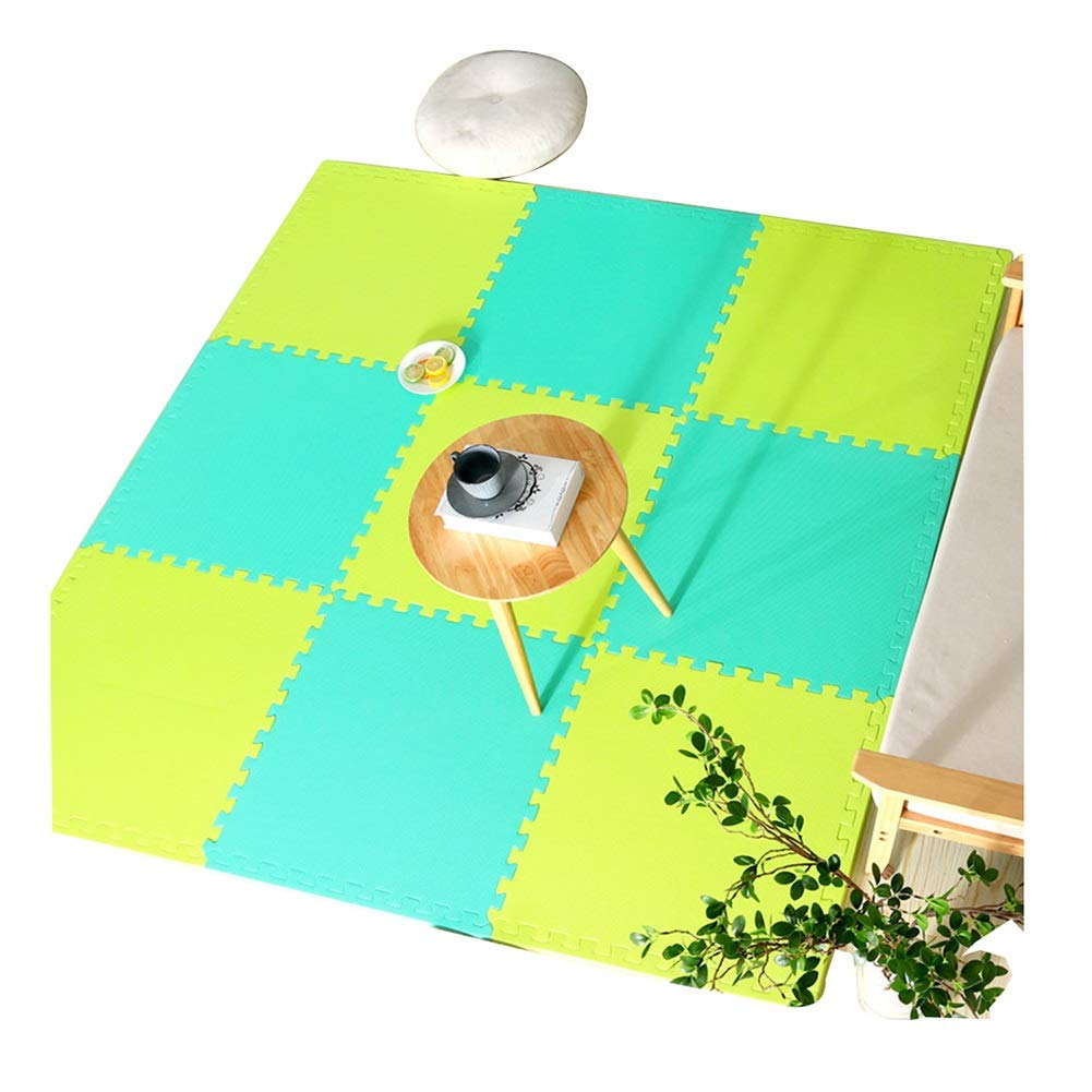 B 16-Tiles AWSAD Tapis De Sol Et Bébé en Mousse avec Bordure Santé Mou Non Toxique Chevet Gym, Plusieurs Couleurs, 60X60X2.5CM (Couleur   D, Taille   28-Tiles)