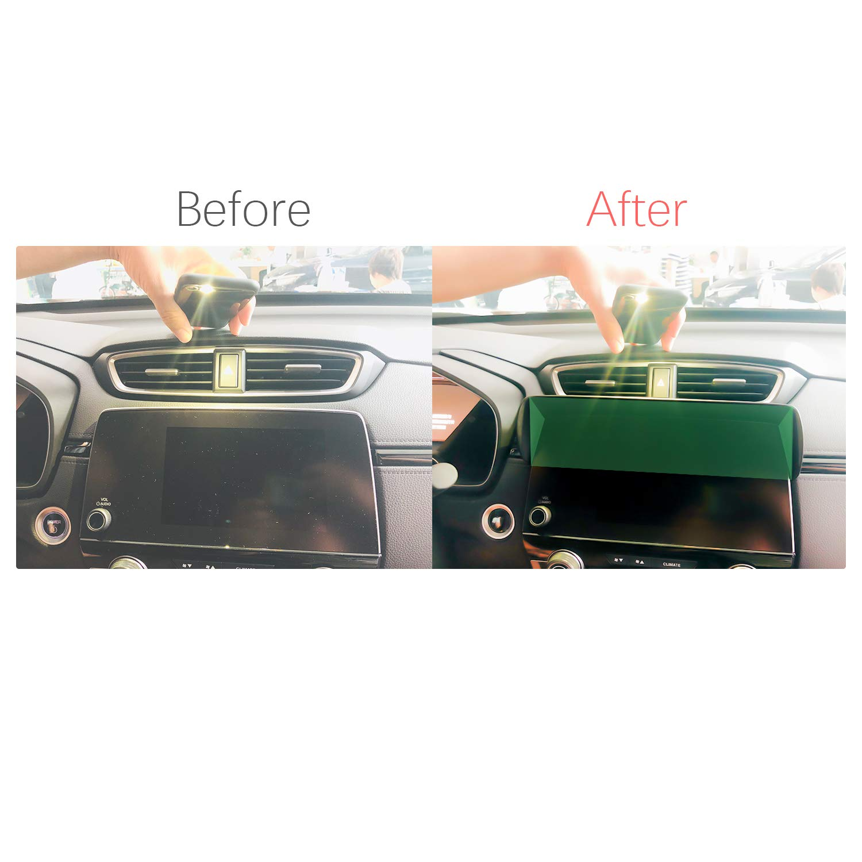 Vehicle Navigator Sunshade Visor for 2017 2018 CR-V CRV LX EX EX-L Touring GPS Navigation Sun Hood Anti Reflective Glare Vision Shield