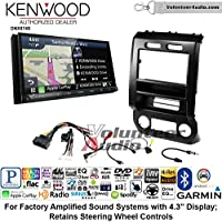 Volunteer Audio Kenwood DNX874S Double Din Radio Install Kit with GPS Navigation Apple CarPlay Android Auto Fits 2015-2016 Ford F-150, 2017 Ford F-250