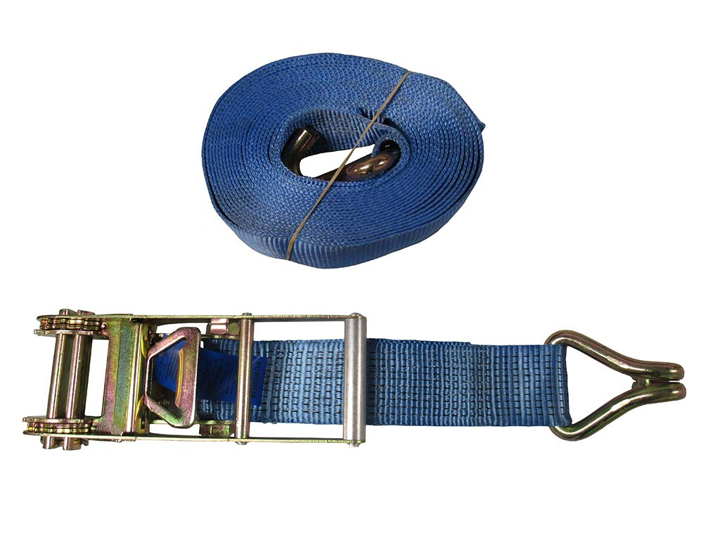 5 Tonne 50mm x 10 Metre Ratchet Strap with Claw Hooks Blue Pack of 5