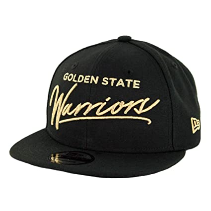 100% authentic f67c7 7176a Image Unavailable. Image not available for. Color  New Era 950 Golden State  Warriors Scripted Turn Snapback Hat (Black) ...
