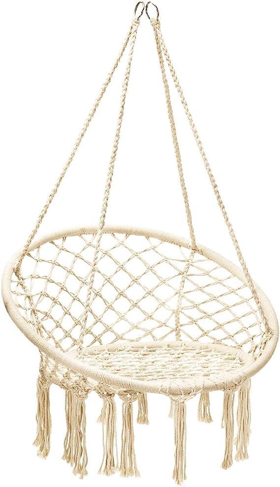 Portata Fino a 150 kg Goplus Altalena Sospesa Sedia Sospesa per Giardino Balcone Soggiorno e Bar Sedia Sospesa