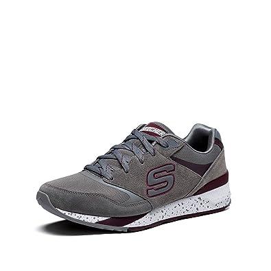 Skechers Men s OG 90 SneakerGray/BurgundyUS 11.5 M