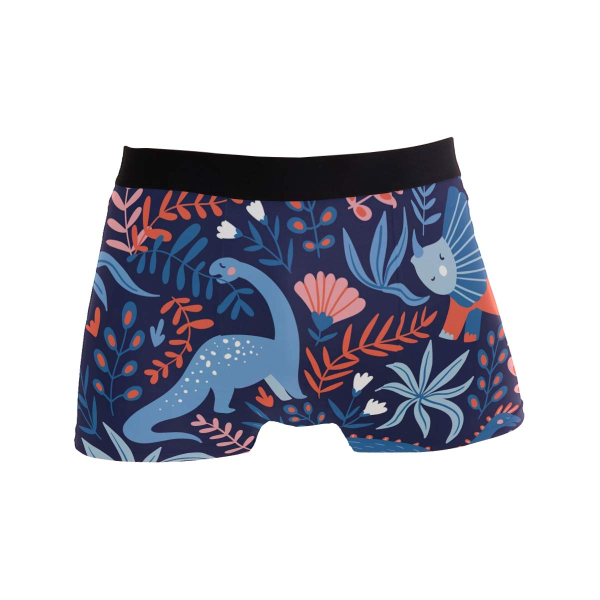 ZZKKO Mens Fashion Cartoon Dinosaurs Mens Underwear Boxer Briefs Breathable
