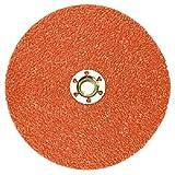 3M(TM) Cubitron(TM) II Fibre Disc 987C TN Quick Change, Ceramic Aluminum Oxide, 5'' Diameter, 60 Grit, Orange  (Pack of 25)