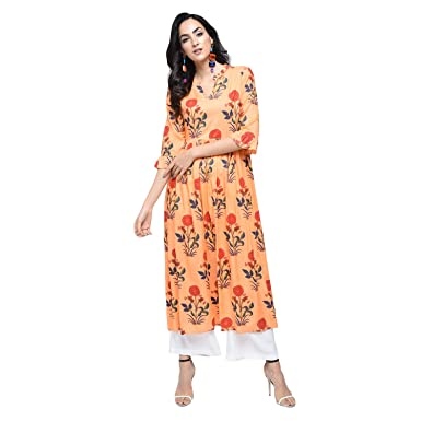 ab11e9d933b Stylum Casual Floral Print Women s Kurti  Amazon.in  Clothing   Accessories