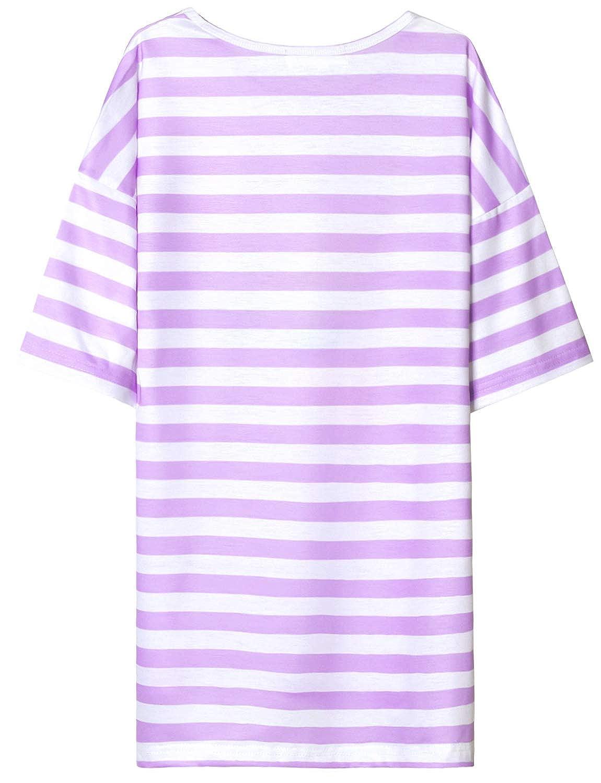 Girls Nightgowns Unicorn Mermaid Cat Pajamas Cotton 3//4 Sleeve Sleep Dresses