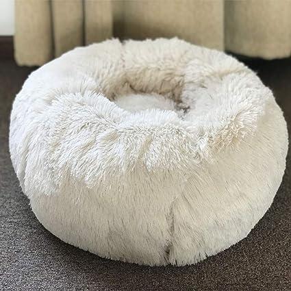 HKANG Cama de Lujo para Mascotas Gatos pequeños Perros medianos Cuddler & Soft cojín Redondo u