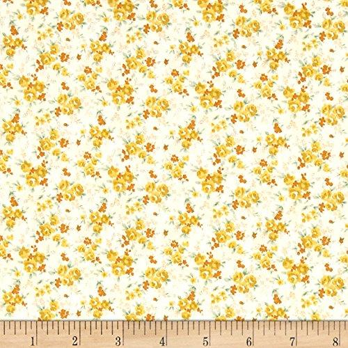 Kaufman Sevenberry Petite Garden Tiny Buds Yellow Fabric By The Yard ()