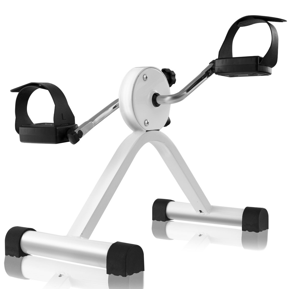 Goplus Portable Pedal Exerciser Desk Bike with Adjustable Resistance Mini Exercise Bike for Arms, Legs by Goplus