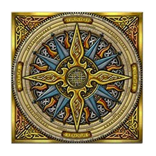 CafePress - Celtic Compass - Tile Coaster, Drink Coaster, Small -