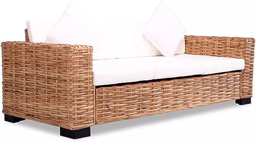 Tidyard Sofa de 3 Plazas Conjunto de Ratán Sofas Exterior Jardin ...