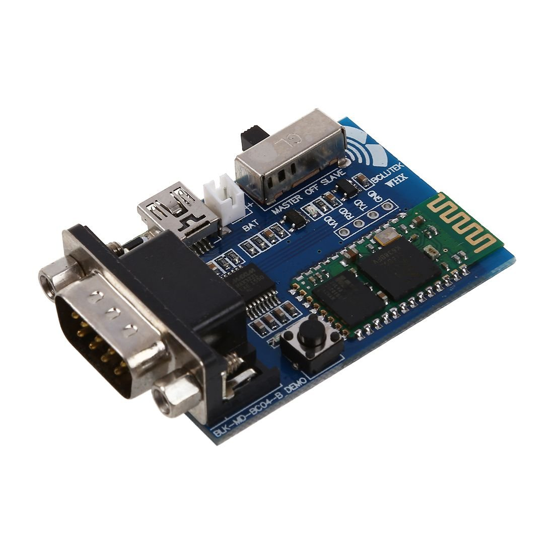 Slave modules - SODIAL(R) RS232 5V Bluetooth Serial Adapter Communication Master-Slave modules Mini USB 044490