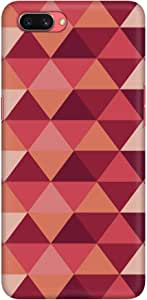 Stylizedd Oppo A3s Slim Snap Basic Case Cover Matte Finish - Topsy Turvy Triangles