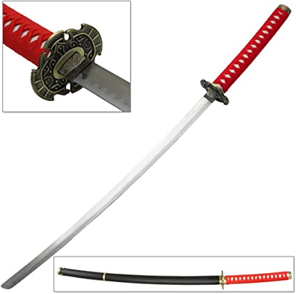 Amazon.com : Ninja Samurai Katana Video Game Sword Red ...