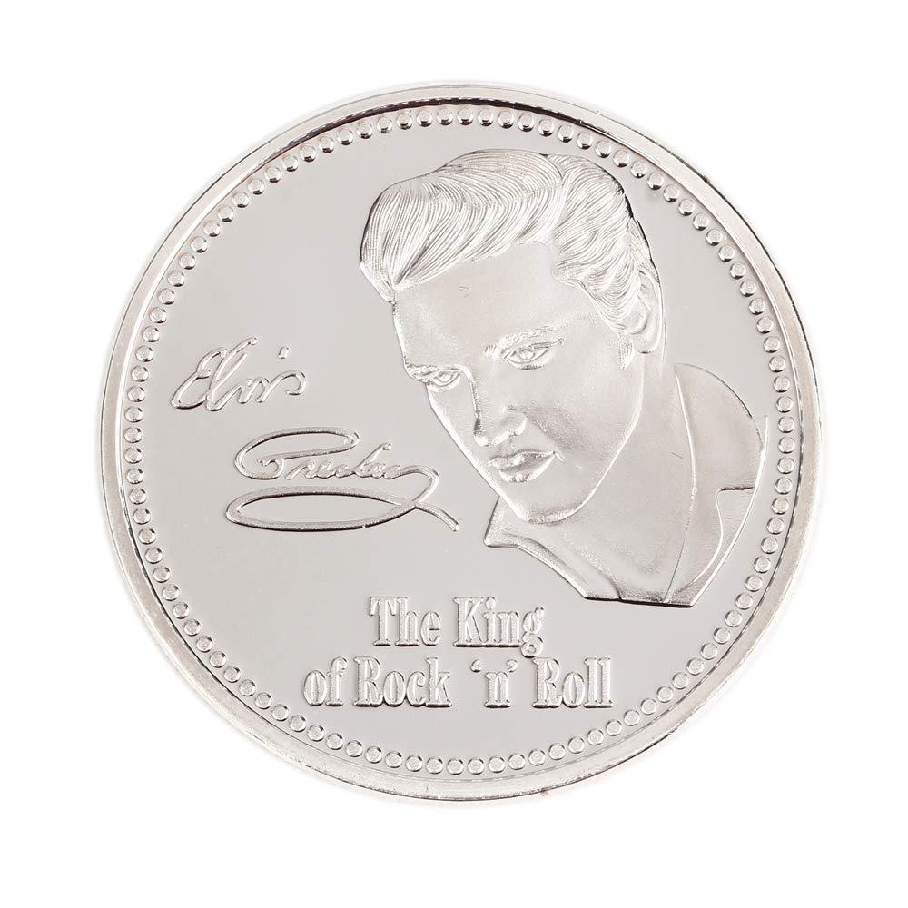Golden BAQI Elvis Presley Gedenkm/ünze 1935-1977 Golden Plated Kunst Geschenk Der K/önig der Rock N Rolle Speicher M/ünzen Geschenk