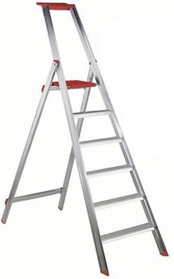 Escalera aluminio profesional Oris 6 peldaños 1,7 metros: Amazon.es: Bricolaje y herramientas